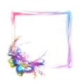 rainbow frame with flower in corner on vector image