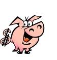 Hand-drawn of an Dollar Pig vector image vector image