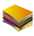 Business card pile template vector image
