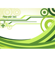 Green Waves vector image