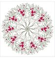 Hand drawing floral holly mandala zentangle vector image