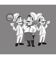 happy chef or cook icon image vector image