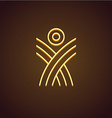 Human figure linear logo vector image