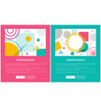modern design colorful web on vector image