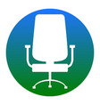 office chair sign white icon in bluish vector image
