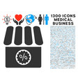 shop sale icon with 1300 medical business icons vector image