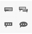 Speech bubble icons on white background vector image