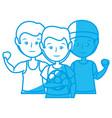 sport mens cartoon vector image