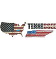 USA state of Tennessee on a brick wall vector image