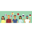 People speaking different languages vector image vector image