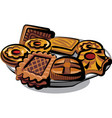 cookies on plate vector image vector image