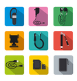 mobile accsessories flat vector image