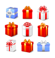 Gift boxes set vector image