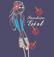 funshine girl vector image