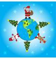 Christmas world eps10 vector image