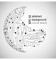 Circuit board world vector image