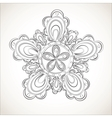 Fantasy flower black and white lace pattern vector image