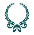 Foliate laurel wreath with a decorative ribbon vector image
