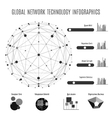 Global network technology infographics vector image