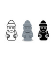 isolated grandfather statues dol hareubang vector image