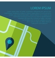 map icon with text Eps10 vector image