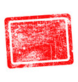 red rectangular grunge stamp with blank vector image