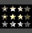 stars of precious metals vector image