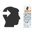 Head Plug-In Arrow Icon With 2017 Year Bonus vector image