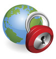 lock and world globe vector image
