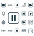 set of 16 music icons includes mute song piano vector image