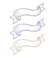 ribbon banners hand drawn sketch vector image vector image