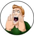 Angry Man Shouts vector image