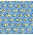 Blue fish seamless pattern vector image vector image