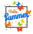Summer Sale Banner with paper butterfly confetti vector image
