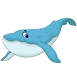 Cute blue whale cartoon for you design vector image