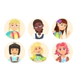 Avatars schoolgirl with backpack vector image
