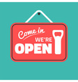 come in sign vector image