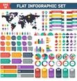 Flat infographic elements set vector image