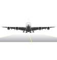 Landing aircraft vector image