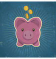 Retro Piggy Bank vector image