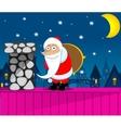 Santa Claus New Year Eve vector image