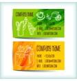 Set modern business card template vector image