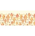 Summer ice cream cones horizontal seamless pattern vector image