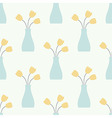 Vase with Flowers Vintage Seamless Pattern vector image
