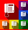communication or phone sign  set of icons vector image