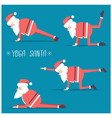 santa claus doing yoga isolated for design vector image