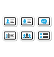 Business card icons set vector image vector image