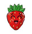 strawberry funny cartoon vector image