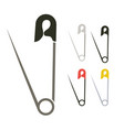 safety pin vector image vector image