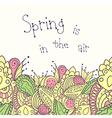 Hand drawn spring seamless border vector image vector image